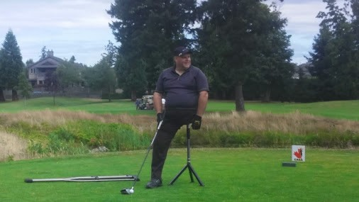Used this custom rig to hit 200 yards plus drives.